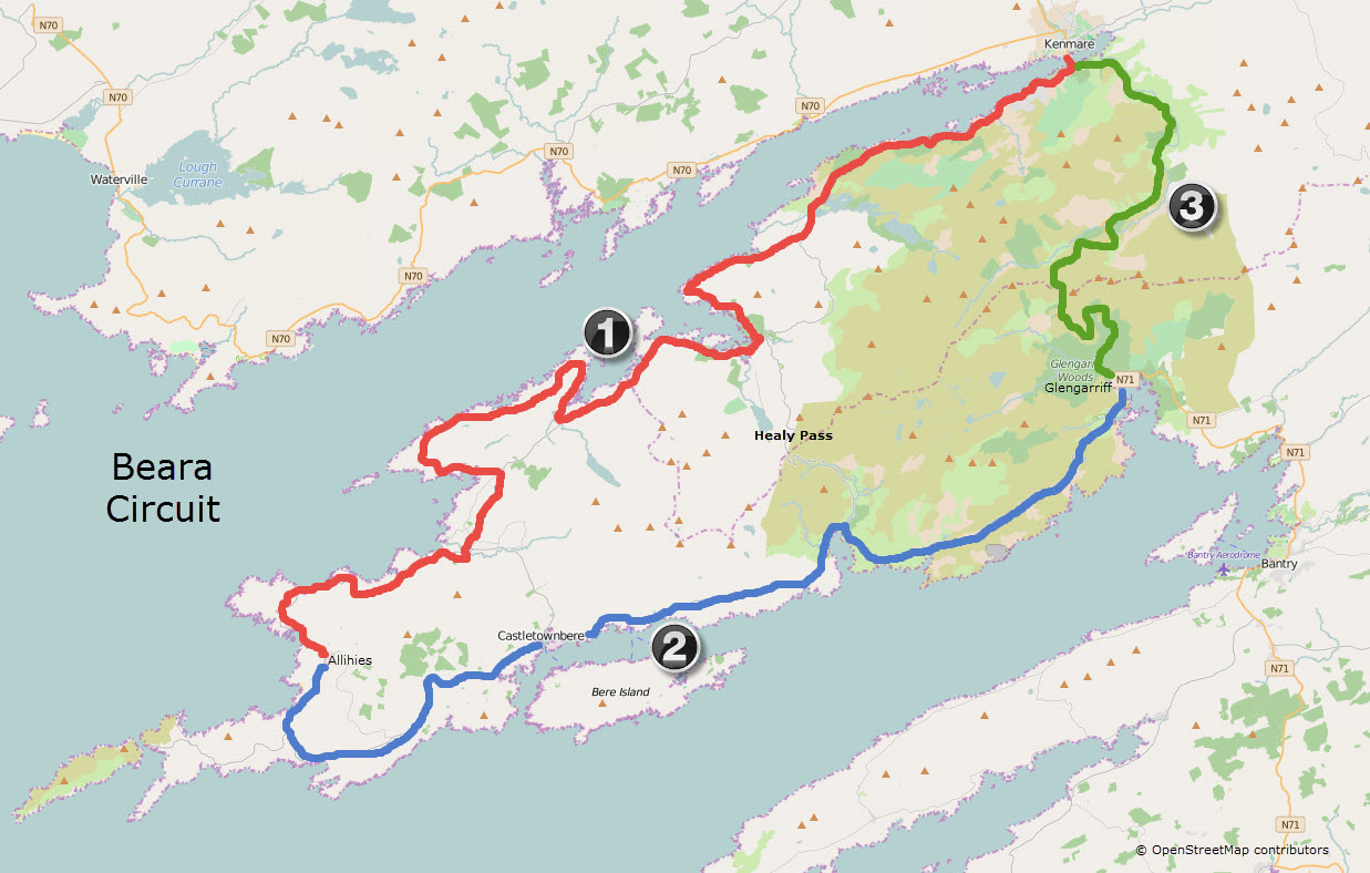 Map Of Ireland Kenmare.The Pathway Porter Cyclists The Pathway Porter