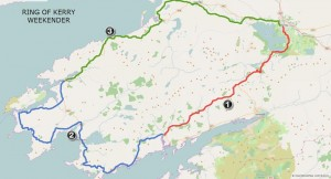 Three day itinerary around the Ring of Kerry.